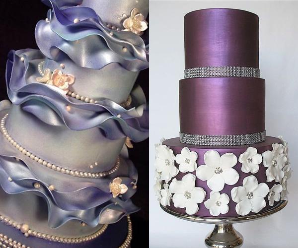La moda delle torte nuziali metallizzate - GuidaCatering it