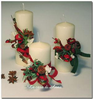 Natale handmade come decorare le candele for Candele decorate
