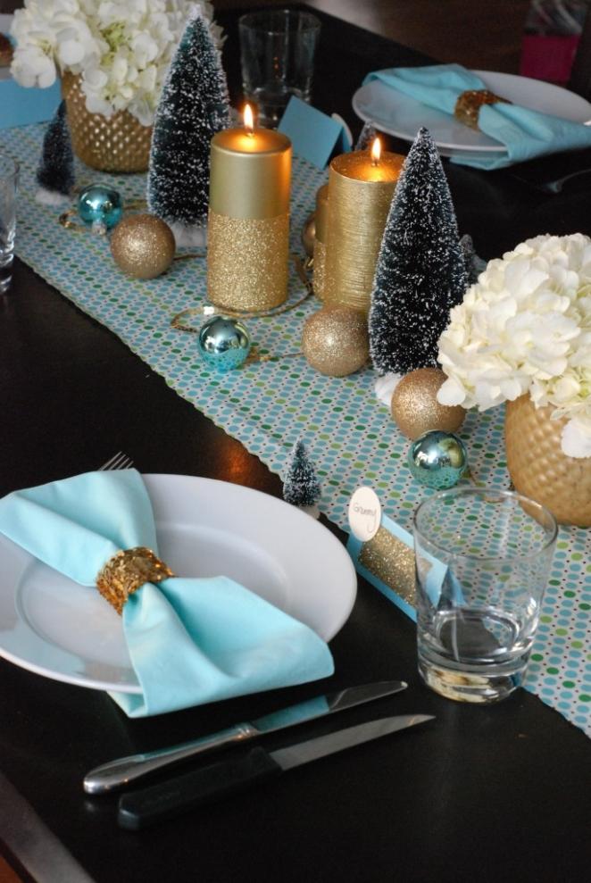 Blu Tiffany E Rosa Per Una Tavola Di Natale Super Chic