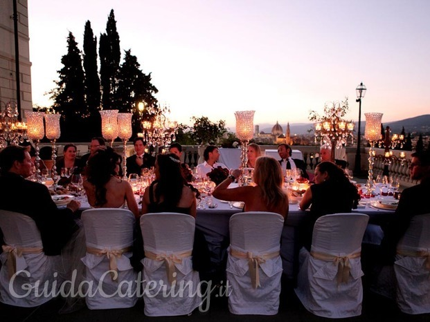 Cena con incredibile vista di firenze TuscanBites Catering Firenze